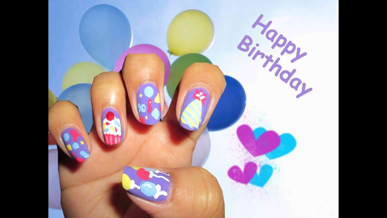 birthday nail art