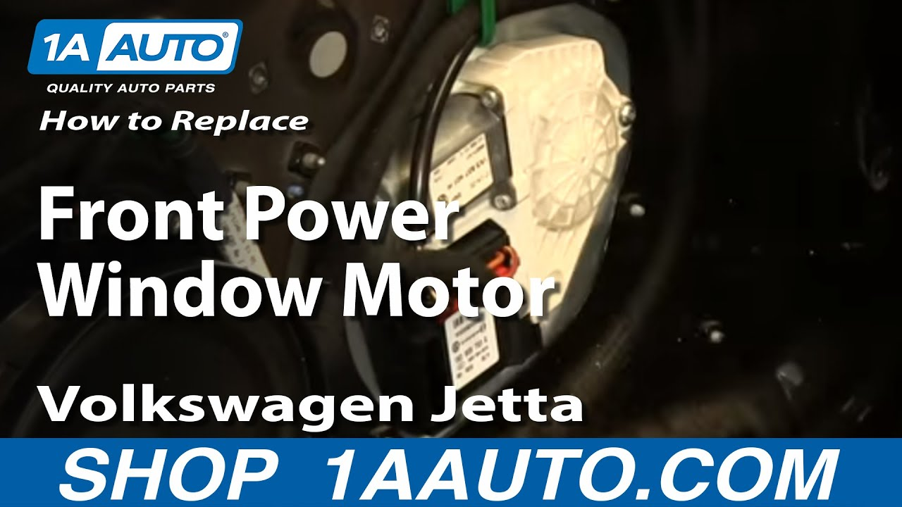 How to install replace front power window motor 2005 10 for 1999 passat window regulator
