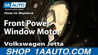 Het Vervangen van de Voorste Stroom Venster Motor 05-10 Volkswagen Jetta