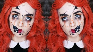 CRACKED DOLL HALLOWEEN TUTORIAL |  #ad
