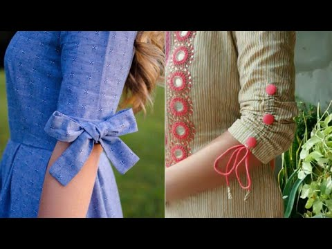 cotton kurta sleeves design ideas/beautiful bow sleeves design/new style sleeves for suit