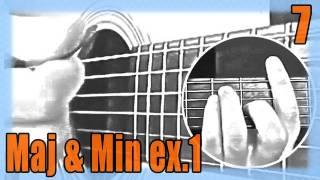"""Cours de Guitare pour Débutants : """"Les accords Majeurs & Mineurs - exercice 1 : Am / Dm / G / E"""""""