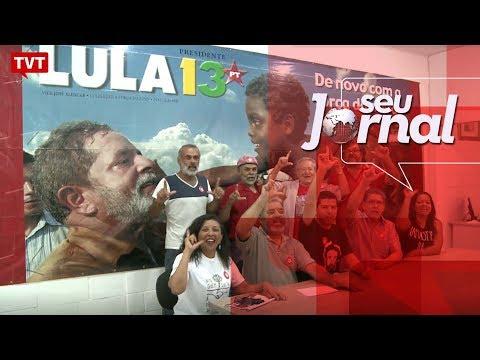 Militantes se preparam para celebrar o Natal com ex-presidente Lula