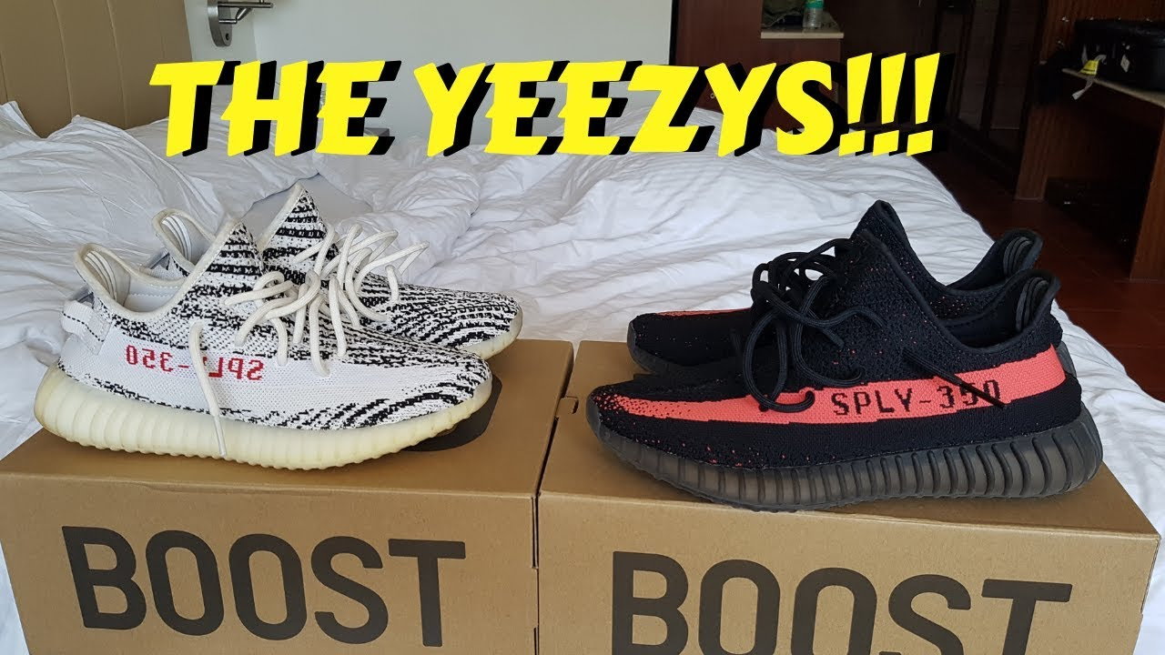 7a42f68c53881 YEEZY GIVEAWAY!!! ZEBRA and CORE BLACK RED!!! - YouTube