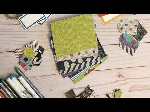 Halloween DIY Handbook process - Using The Reset Girl inserts and Simple Stories digital kit