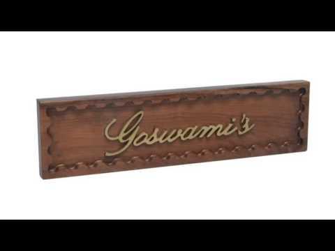 Teak Wood Door Name Plate - YouTube