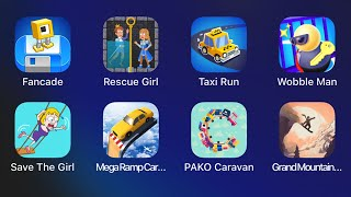 Fancade,Rescue Girl,Taxi Run,Wobble Man,Save The Girl,Mega Ramp Car,PAKO Caravan,Grand Mountain