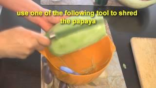 Pickled Papaya And Grilled Marinated Baby Back Pork Ribs