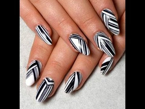 Monochrome Nails Latest In Fashion 2013 Youtube