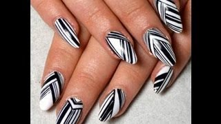 Monochrome nails, latest in fashion 2013 Thumbnail