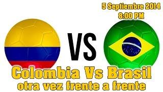 A que hora juega Colombia vs Brasil