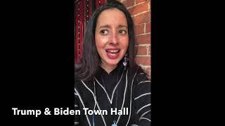 RA chats Trump and Biden Town Hall #trump #biden #townhall