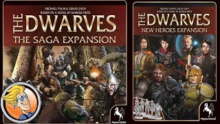 The Dwarves: The Saga and New Heroes Expansions — game preview at SPIEL