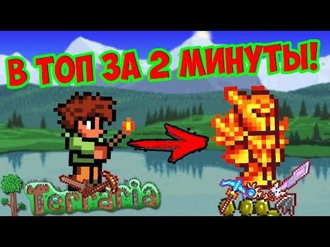 видео: Как сделать из нового персонажа топ за 2 минуты!?| Террария туториал |