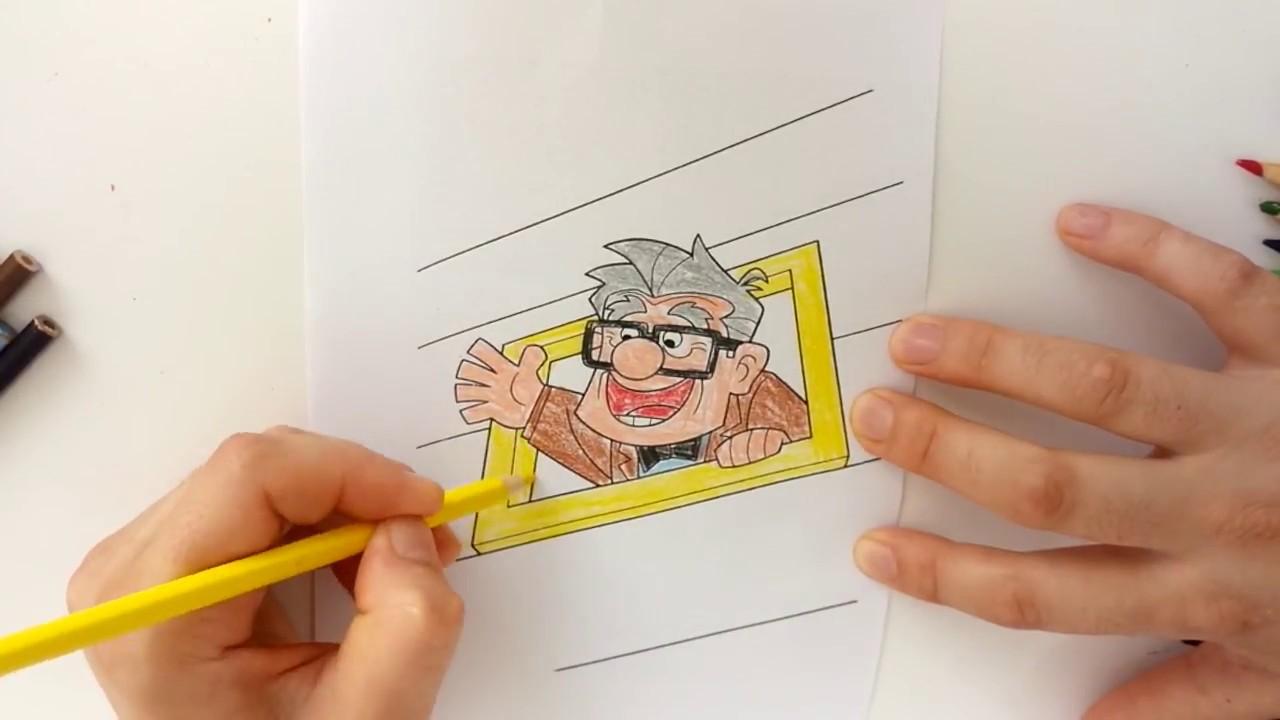 Yukarı Bak çizgi Film Serisi Carl Fredricksen Boyama Oyunu Youtube