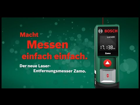 bosch laser entfernungsmesser zamo youtube. Black Bedroom Furniture Sets. Home Design Ideas