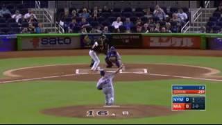 Dee Gordon emotional leadoff homerun vs Mets