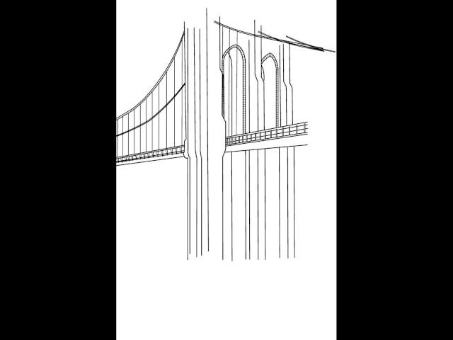 De-constructing drawing of the Brooklyn Bridge1
