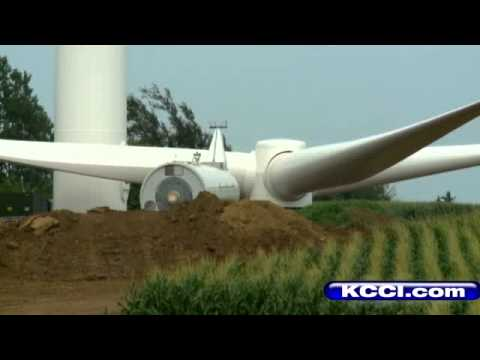 Iowa's Largest Wind Turbine Project Under Construction