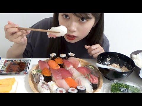 勉強の休憩に大量の寿司を食べたら最高すぎた。