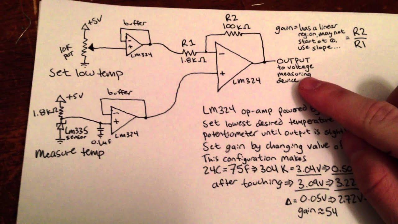 Usb Rs232 Circuit Engine Control Wiring Diagram Converter Schematic Precision Temperature Sensor Lm335 Lm324 Atmega8 Avr