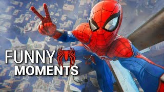 Spider-Man PS4 Funny Moments PIZZA TIME!