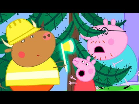 Peppa Pig Official Channel | Daddy Pig Is Stuck, Mr Bull Wants To Chop The Tree Down