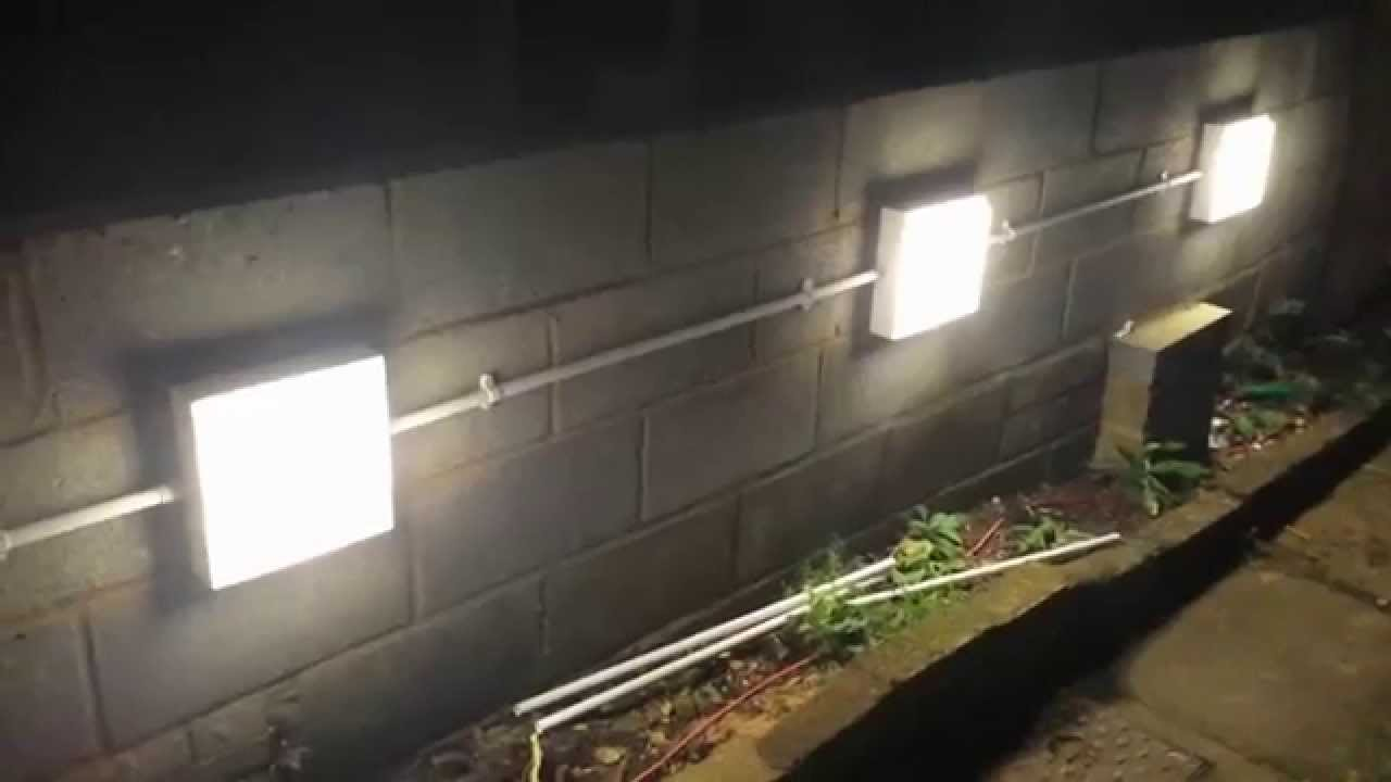 installing garden wall lights [ 1280 x 720 Pixel ]