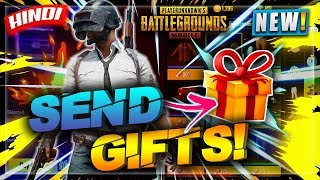 🔥HOW TO SEND GIFTS IN PUBG MOBILE 0.6 UPDATE IN HINDI | SEND ITEM TO FRIENDS | HINDI ANDROID GAMING