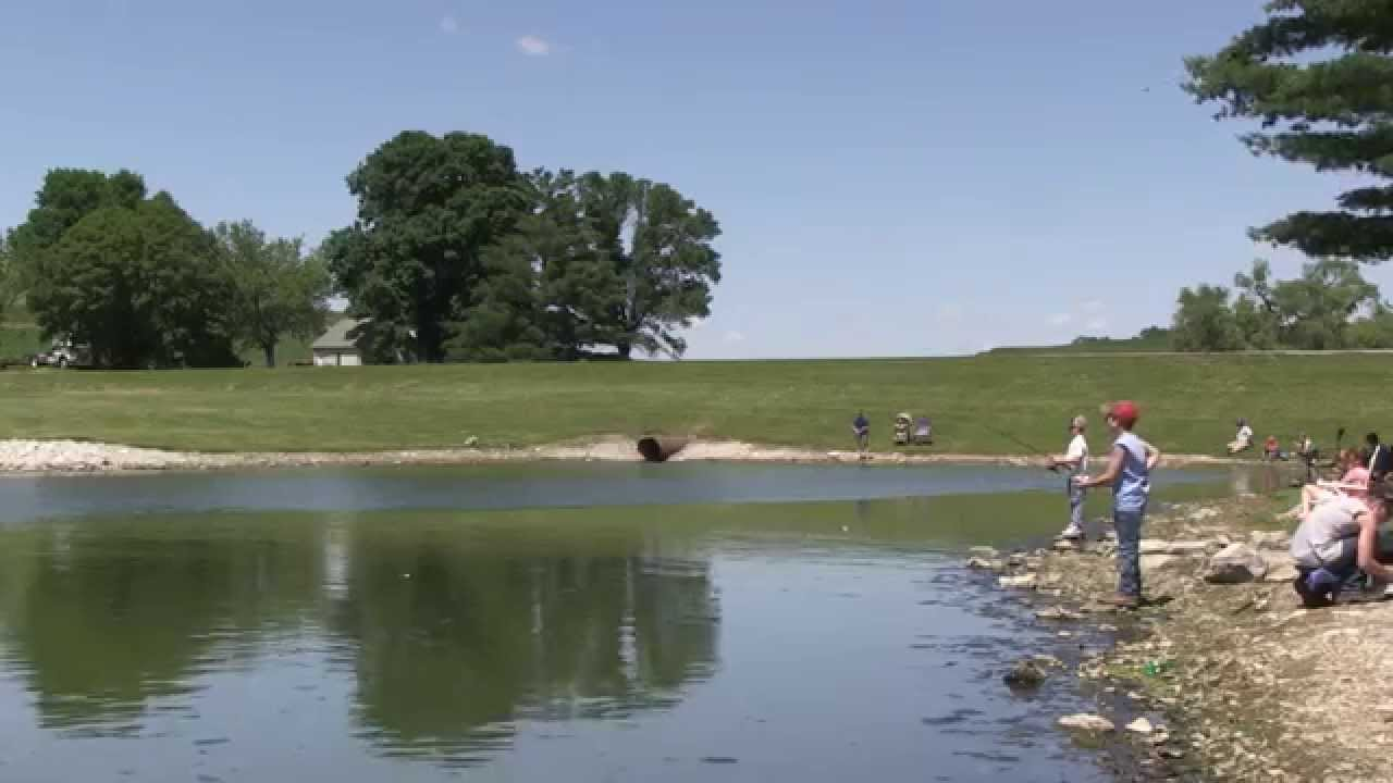Arrowhead park fishing derby neola iowa youtube for Iowa out of state fishing license