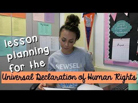 vlog | universal declaration of human rights lesson