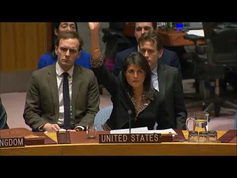 Security Council vote on draft resolution on Jerusalem
