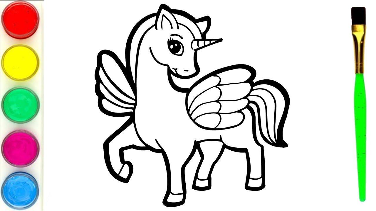 Gambar Mewarnai Yunikon : Mewarnai Gambar Unicorn ...