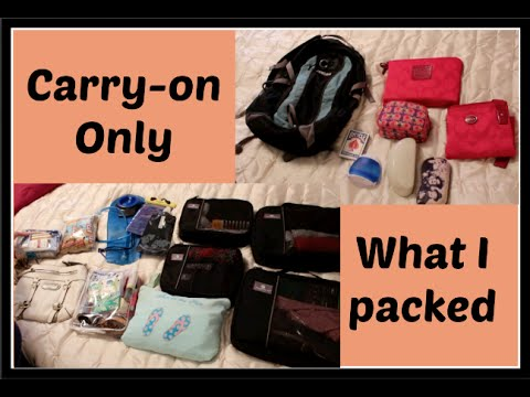 PACKING:  Carry-on only | What I packed for Kauai, Hawaii