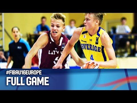 Sweden v Latvia - Full Game - FIBA U16 European Championship 2016