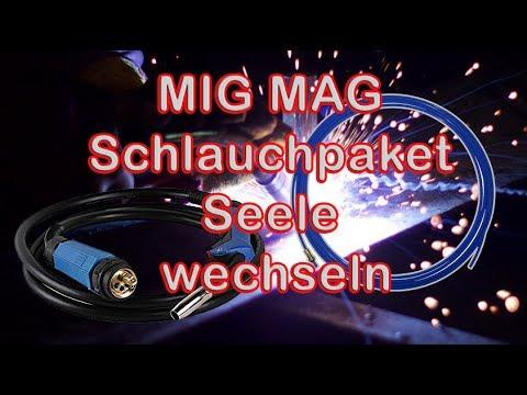 MIG MAG Schlauchpaket Seele wechseln / Teflonseele für Alu und ...