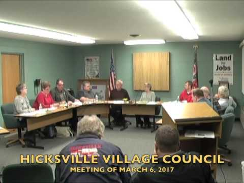 Hicksville Village Council Meeting 3-6-17