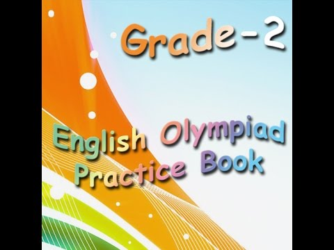 Grade 2 English Olympiad practice book for kids