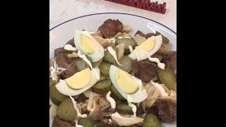 Сытный мясной салат за 30 минут