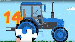 Puzzle. Autos 8. Die Traktoren.