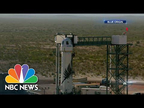 Jeff Bezos & Blue Origin Prepare For Space Launch