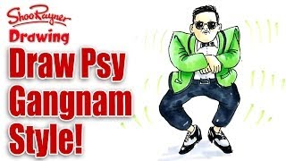 How to draw Psy in a Gangnam Style