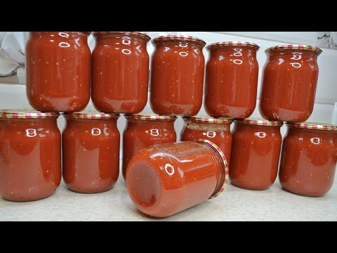 ТОМАТ на зиму из помидоров без уксуса, сахара, соли и специй - готовим по рецепту