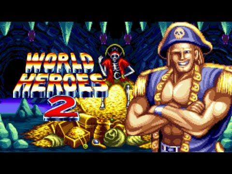 World Heroes 2 Captain Kidd 1CC Arcade Level 8 Neo Geo