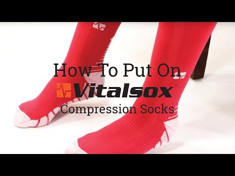 20acdd5e75 Vitalsox How To Put On Compression OTC - YouTube