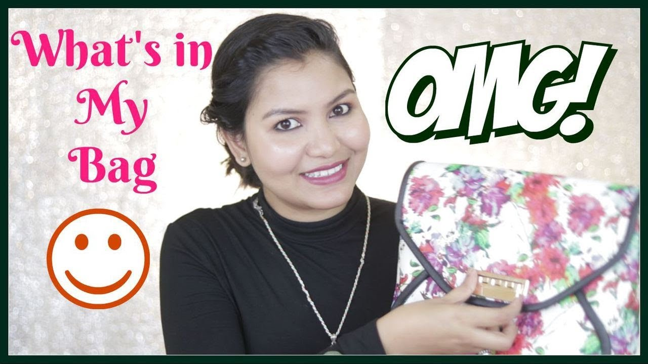 Whats In My Bag Indiangirlchannel Trisha Youtube