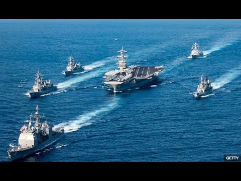 "WORLD TENSION! RUSSIA AND CHINA ""CHASE DOWN"" U S  WARSHIP HEADING TO KOREAN PENINSULA!"