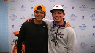 Rickie Fowler and Jake Reddington