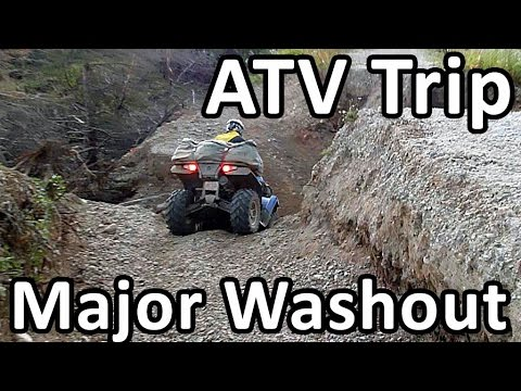 ATV Trail Major Washout