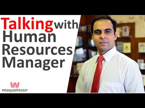 Talking with Human Resources Manager (Ali Zaidi) -By Qasim Ali Shah | In Urdu